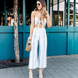 Two piece set! Crop top and flare pants